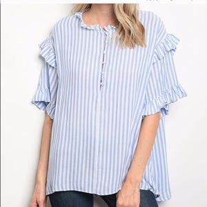Mustard seed NWT striped short sleeve blou…